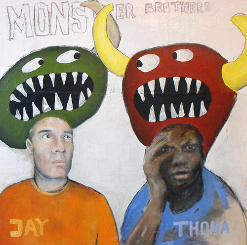 Monster Boys by Jay Rechsteiner - depicting Thona Samba and Jay Rechsteiner