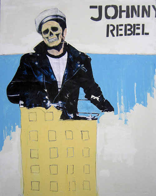 Johnny Rebel,  painting by Jay Rechsteiner