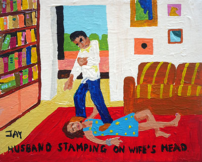 Bad Painting 10 by Jay Rechsteiner, domestic violence